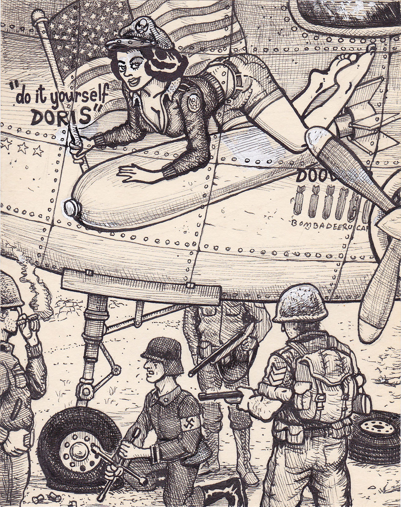 Diyd25bomber doodle pad art by david jablow diyd25bomber solutioingenieria Image collections