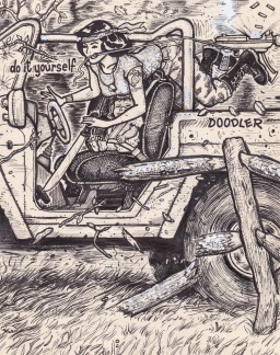 Doodle pad art by david jablow test a 48 page book collecting the first do it yourself doodler series as well as prints postcards and framed original drawings can be purchased here solutioingenieria Image collections