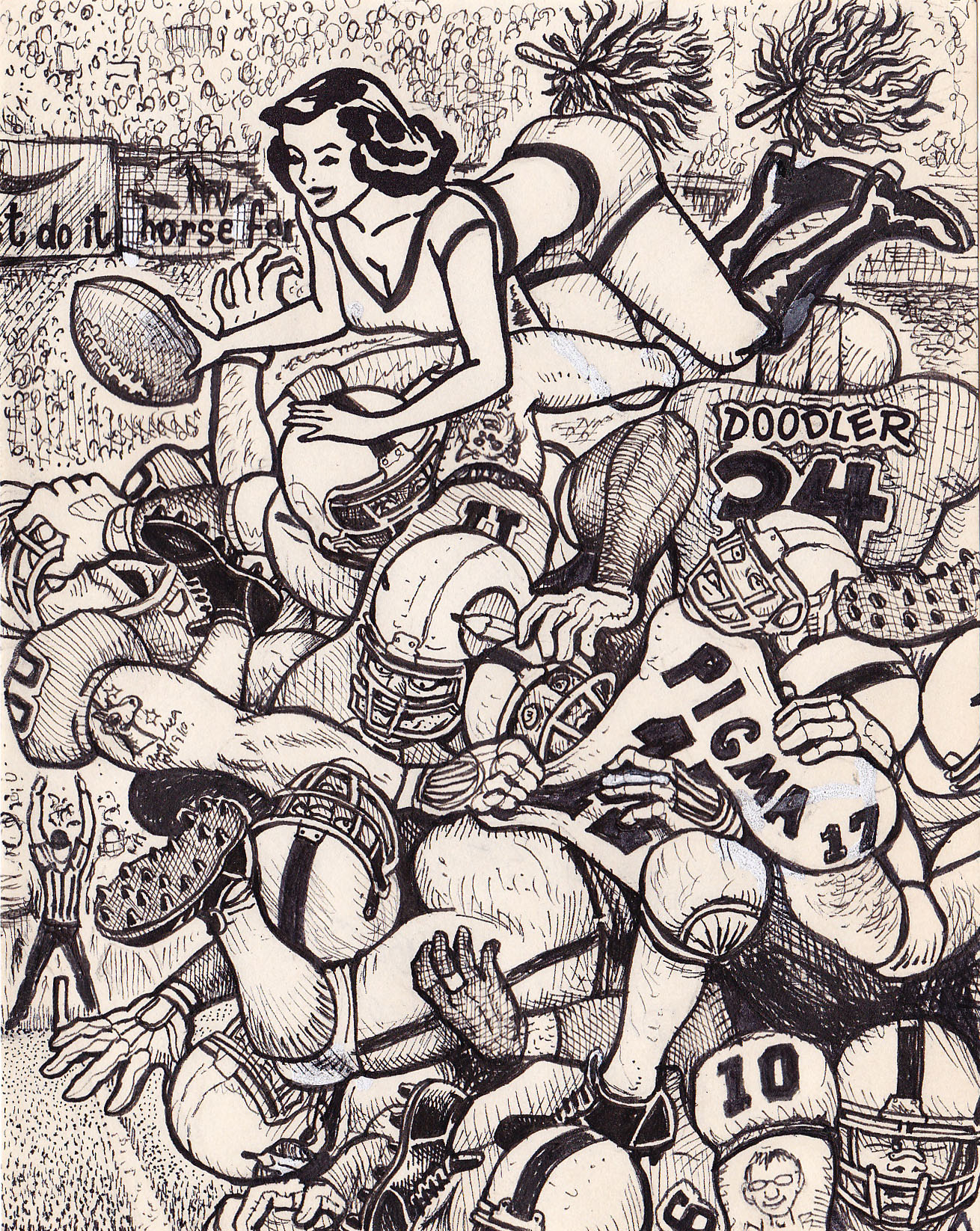 Diyd34football doodle pad art by david jablow diyd34football solutioingenieria Image collections
