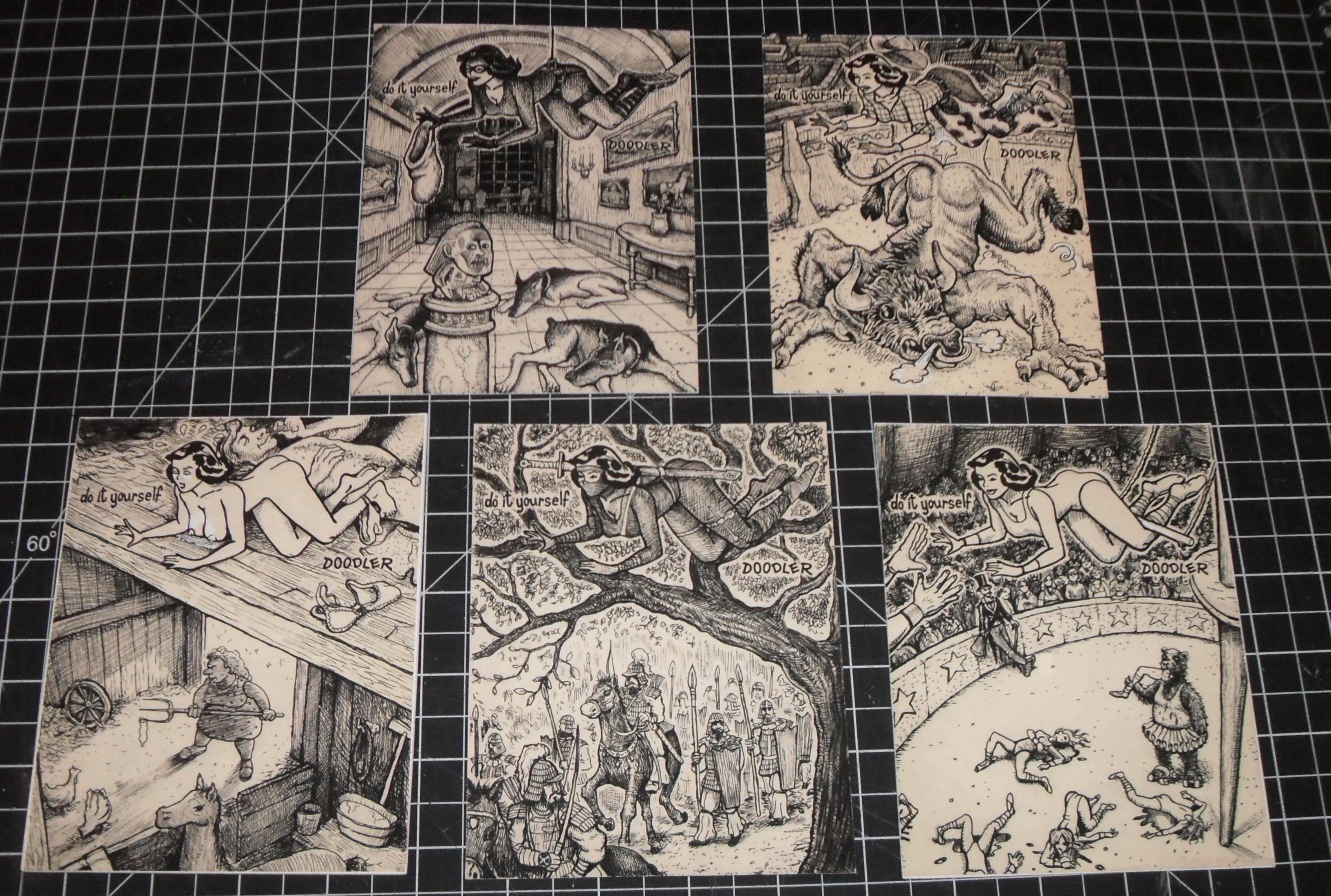 Doodle pad art by david jablow davidjablowdiy doodler postcard set solutioingenieria Gallery