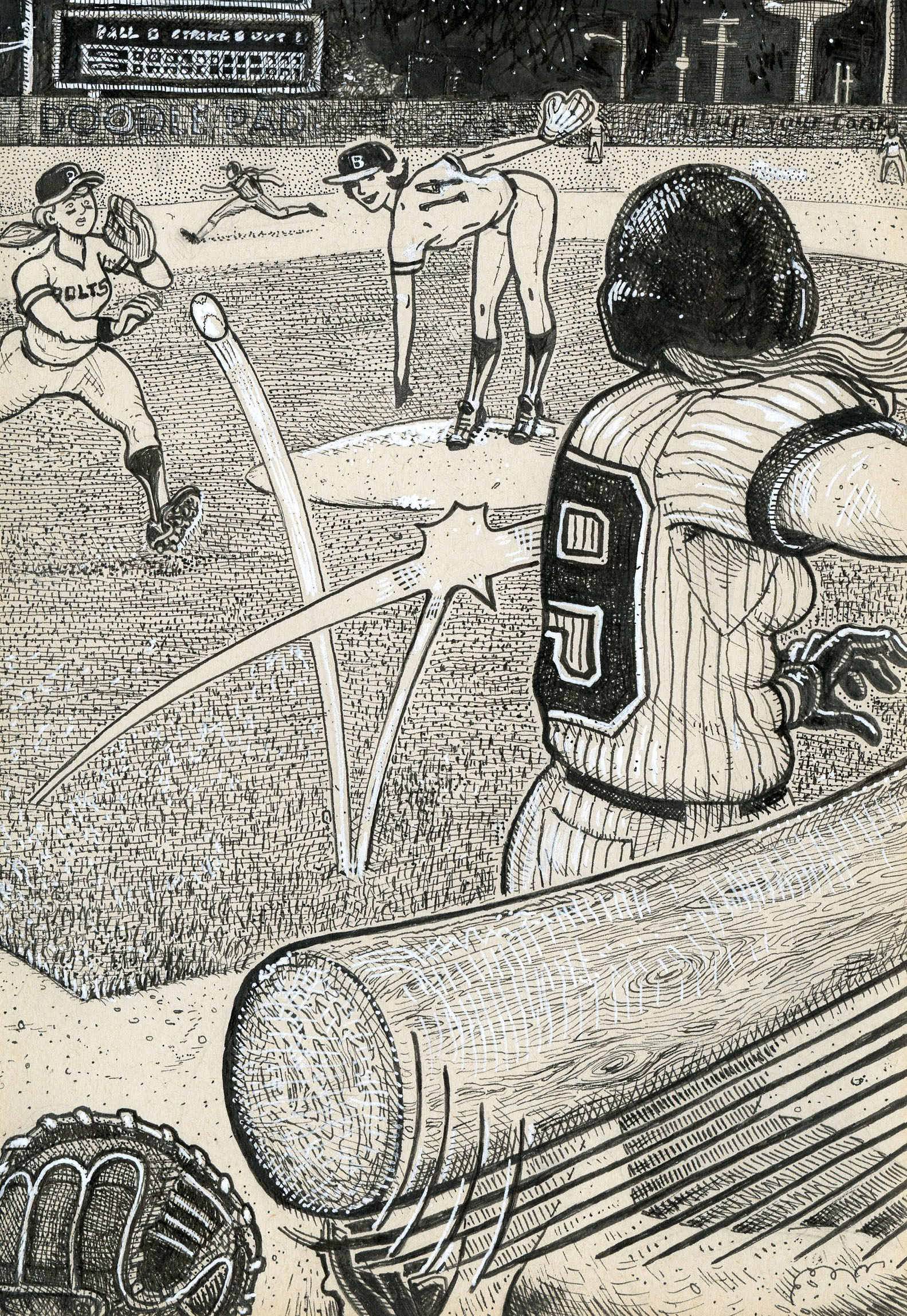 Dp9baseball doodle pad art by david jablow dp9baseball solutioingenieria Image collections